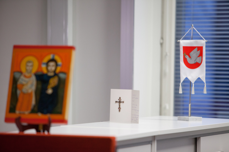 Matkakumppanuuden ikoni ja hiippakunnan standaari