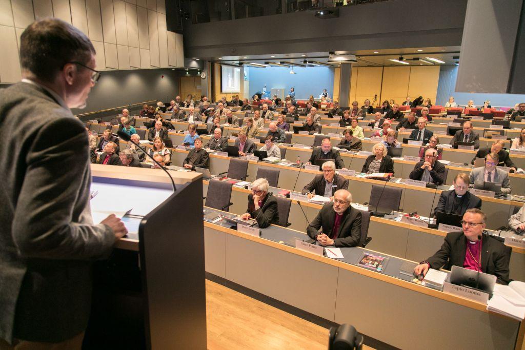 Kirkolliskokous 8.5.2019 Turun kristillisellä opistolla.